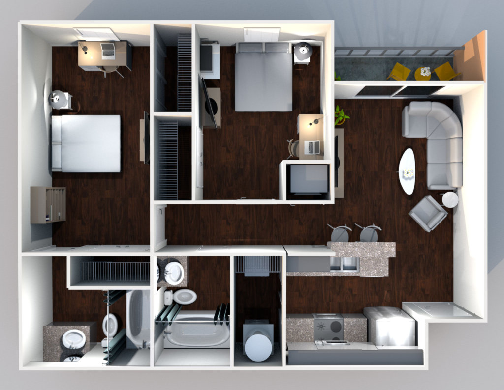 21pearl 2x2 B1 D Floorplan 1024x794 - Floor Plans
