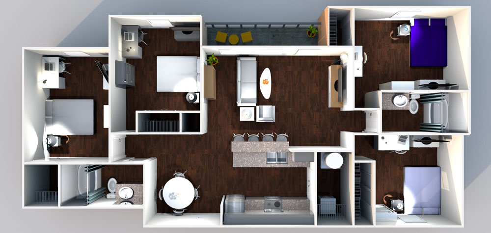 21pearl 4x2 D1 Floorplan - Floor Plans