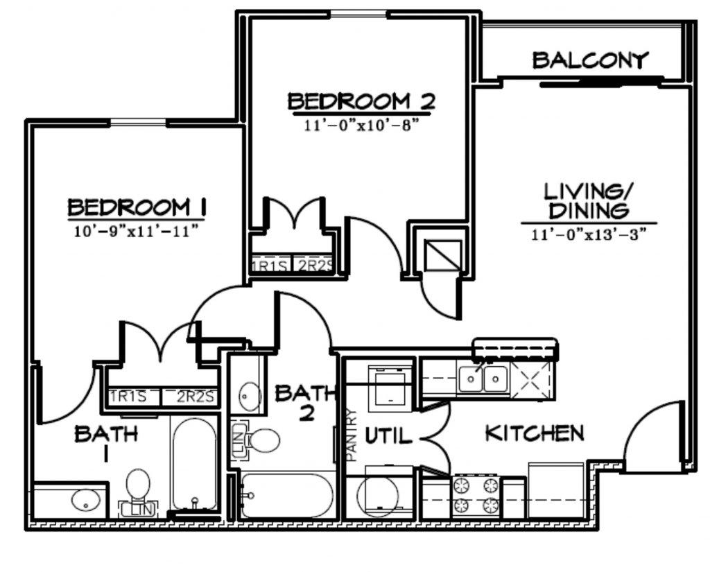 B1 21Pearl 1024x825 - 2 Bed | 2 Bath