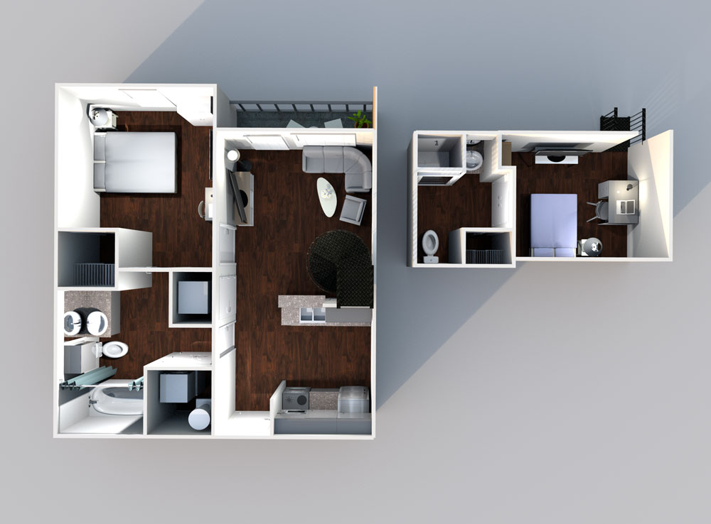 21pearl Loft A1 L Floorplan - Lofts
